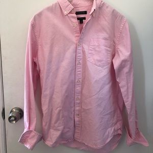 Pink Banana Republic Cotton Camden Fit Oxford